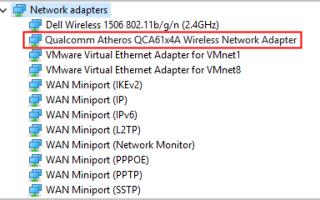 [ИСПРАВЛЕНО] Проблемы с драйвером Qualcomm Atheros QCA61x4A в Windows 10