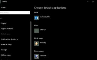 Как связать типы файлов с программами в Windows 10