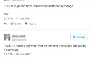 Как сказать, если кто-то делает снимки экрана с вашим текстом на iPhone