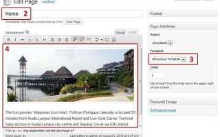Как создать статическую домашнюю страницу в блоге WordPress?