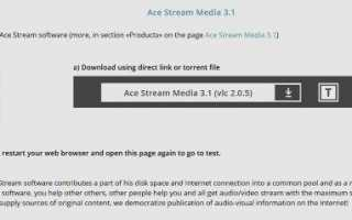 Как установить и использовать Ace Stream
