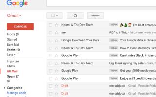 Как восстановить удаленные или случайно заархивированные электронные письма в Gmail