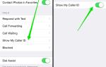Как отключить идентификатор звонящего при звонке на iPhone