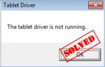 Wacom Драйвер планшета не работает