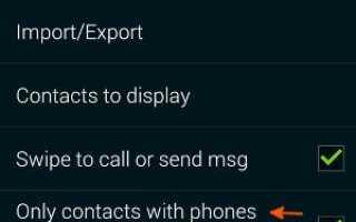 Как отфильтровать контакты в приложении Galaxy S5 Contacts?