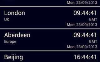 8 бесплатных приложений для Android, которые показывают несколько часов на главном экране
