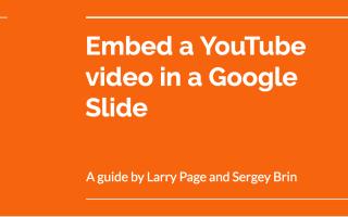 Как вставить видео с YouTube в слайд Google