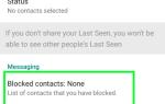 Как заблокировать кого-то на WhatsApp