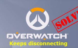 | Overwatch продолжает отключаться | Быстро и легко!