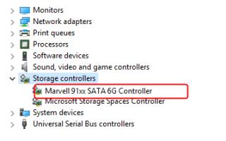 Исправлена проблема с драйвером Marvell 91xx для Windows 10