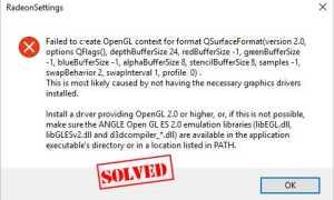 [ИСПРАВЛЕНО] Не удалось создать контекст OpenGL для формата QSurFaceFormat