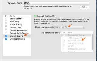 (MIUI 6): Как подключить интернет-соединение моего компьютера Mac с моим телефоном Xiaomi?