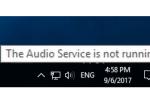 Решено: Аудио Сервис не работает под управлением Windows 10