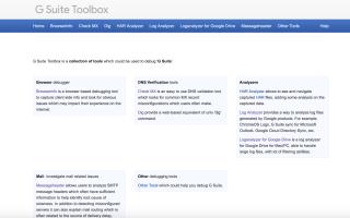Как использовать G Suite Toolbox для отладки типичных проблем домена