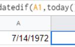 Как рассчитать возраст в Google Sheets от даты рождения