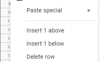 Как скрыть клетки в Google Sheets