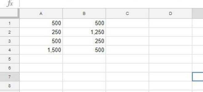 Как применять формулы ко всем столбцам в Google Sheets