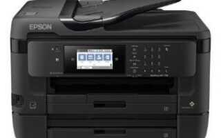 Обновление драйвера принтера Epson WF-7720 в Windows