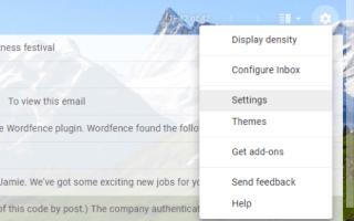 Что такое значок шестеренки в Gmail?