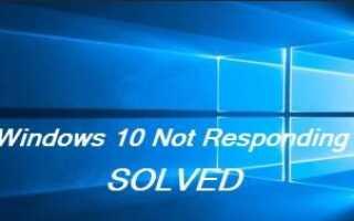 Windows 10 не отвечает? Вот исправление!