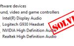 Исправлена проблема с драйвером Logitech Headset G930 в Windows
