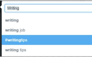 Как следовать условию поиска хэштега в Твиттере
