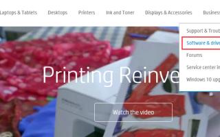 Обновите драйверы принтера HP в Windows 10