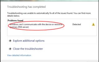 Windows не может связаться с устройством или ресурсом [Исправлено]