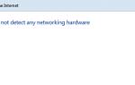 Windows не обнаружила сетевого оборудования