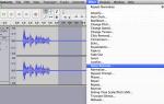 Как удалить фоновый шум в Audacity