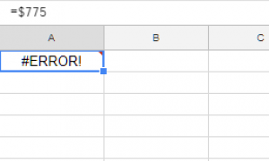 Ошибка синтаксического анализа формулы листов Google — как ее исправить