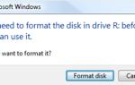 Вам необходимо отформатировать диск в дисководе, прежде чем вы сможете его использовать