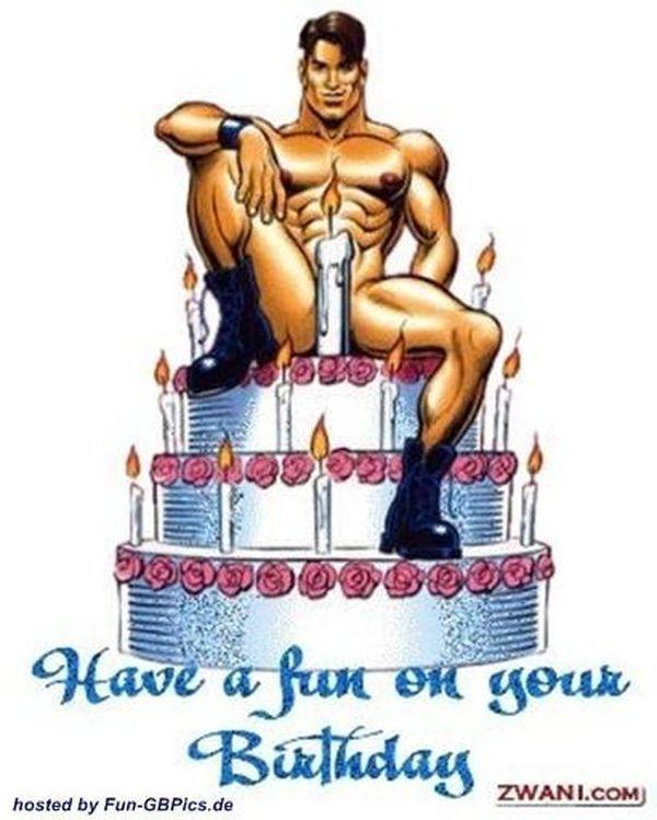 Смешная пошлая открытка с днем рождения